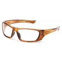 Clear Lens with Caramel Mixed Frame
