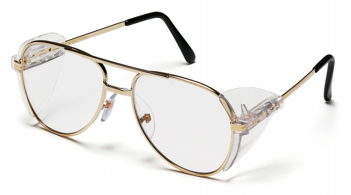 Clear Lens with Gold Metal Frame