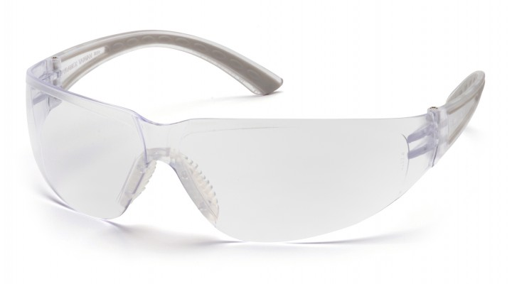 Clear Lens with Gray Temples