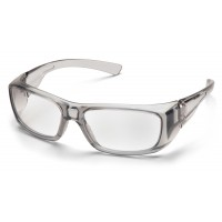 Clear +2.0 Lens with Gray Frame