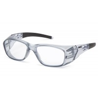 Clear +2.0 Full Reader Lens with Gray Frame