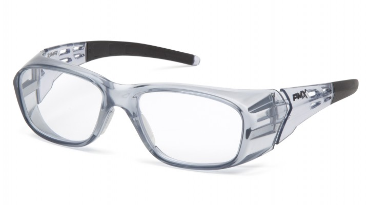 Clear +2.5 Full Reader Lens with Gray Frame