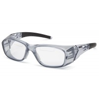 Clear +2.5 Top Insert Reader Lens with Gray Frame