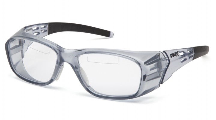 Clear +1.5 Top Insert Reader Lens with Gray Frame