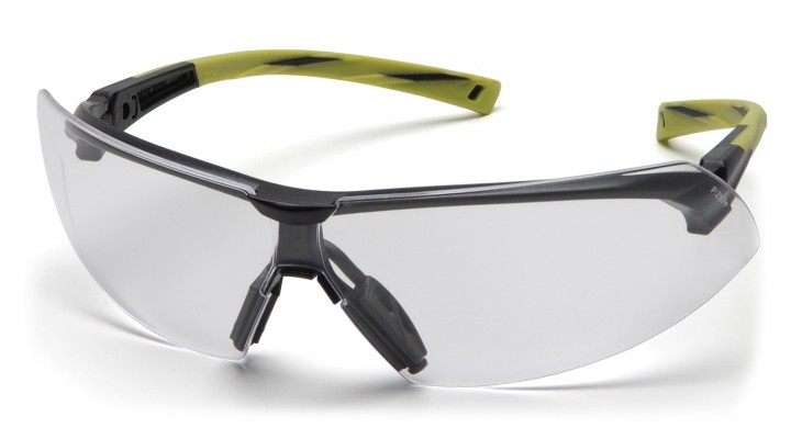 ec5a76aaec74 Clear Anti-Fog Lens with Black Hi-Vis Green Frame - Pyramex Safety