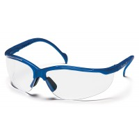 Clear Lens with Metallic Blue Frame