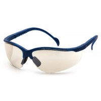 Indoor/Outdoor Mirror Lens with Metallic Blue Frame