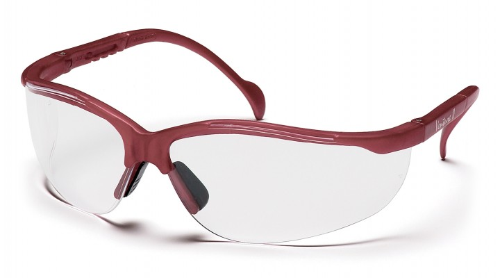 Clear Lens with Maroon Frame