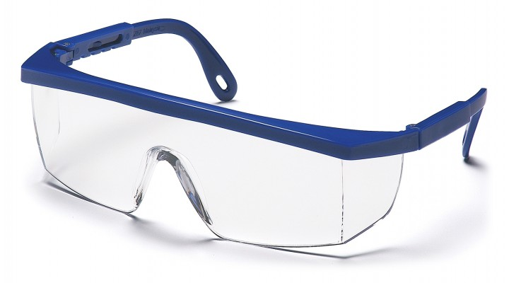 Clear Lens with Blue Frame
