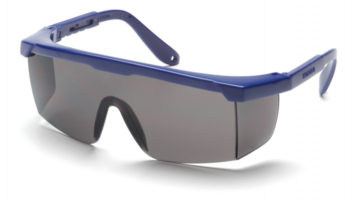 Gray Lens with Blue Frame