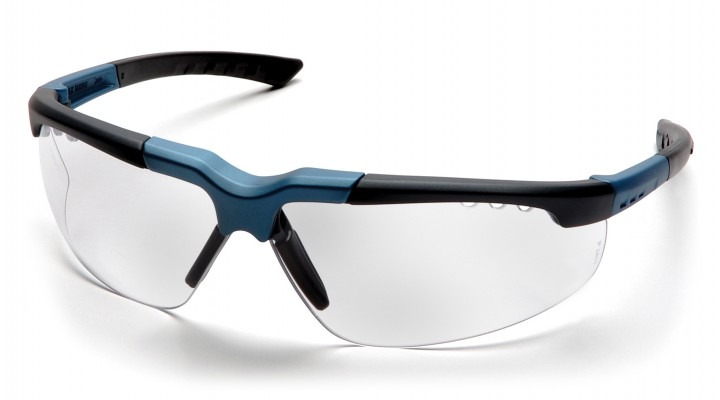 Clear Lens with Blue/Charcoal Frame