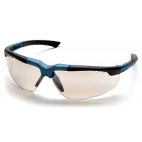 Indoor/Outdoor Mirror Lens with Blue/Charcoal Frame