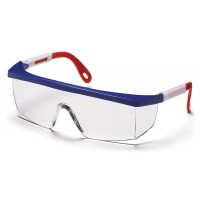 Clear Lens with Red, White, and Blue Frame