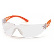 Clear Lens with Orange Temples