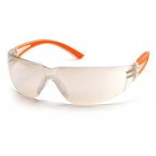 Indoor/Outdoor Mirror Lens with Orange Temples