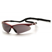 Gray Lens with Red Frame and Black Cord