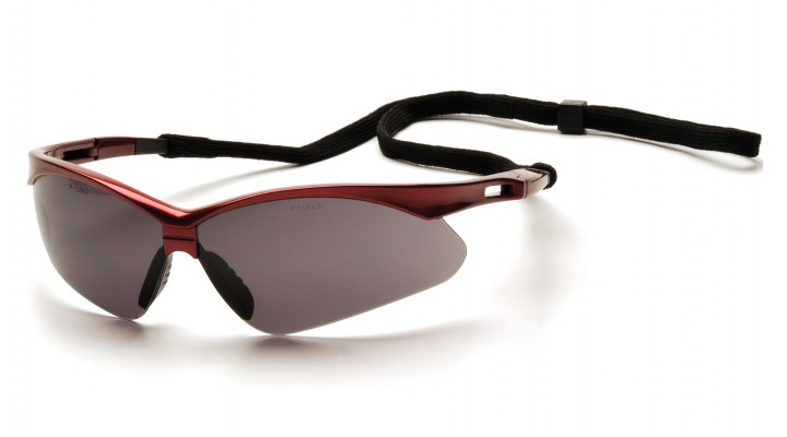 e26227744cd7 Gray Lens with Red Frame and Black Cord - Pyramex Safety