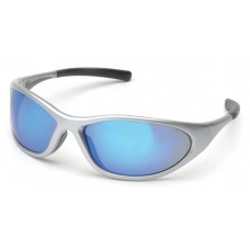 Ice Blue Mirror Lens with Silver Frame