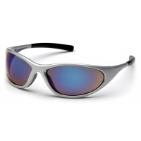 Blue Mirror Lens with Silver Frame