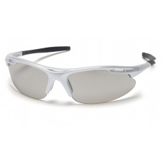 Indoor/Outdoor Mirror Lens with Silver Frame