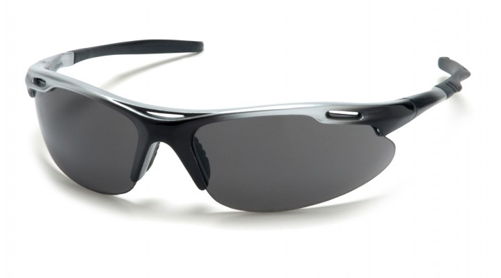 Gray Lens with Silver Black Frame
