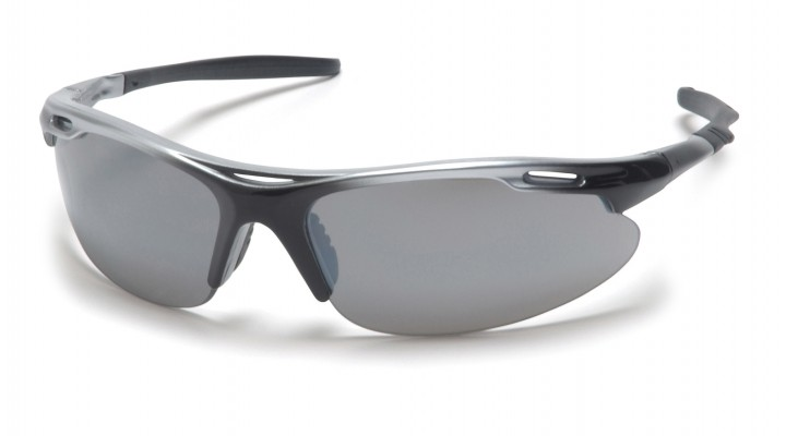 Silver Mirror Lens with Silver Black Frame