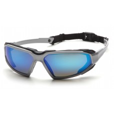 Ice Blue Mirror Anti-Fog Lens with Silver/Black Frame