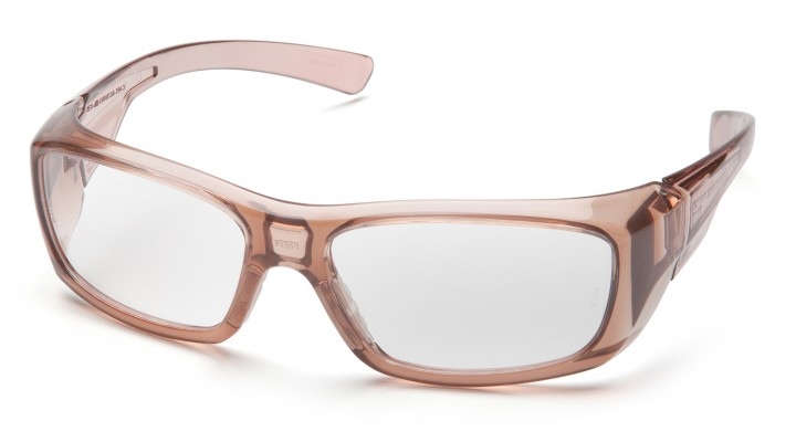 Clear +2.0 Lens with Translucent Caramel Frame