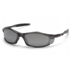 Silver Mirror Lens with Translucent Gray Frame