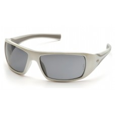 Gray Lens with White Frame