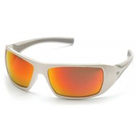 Sky Red Mirror Lens with White Frame
