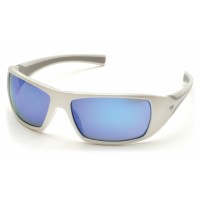 Ice Blue Mirror Lens with White Frame