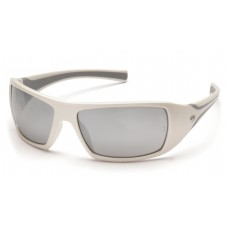 Silver Mirror Lens with White Frame