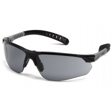Gray Anti-Fog Lens with Black and Gray Temples
