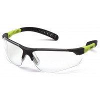 Clear Lens with Gray and Lime Temples