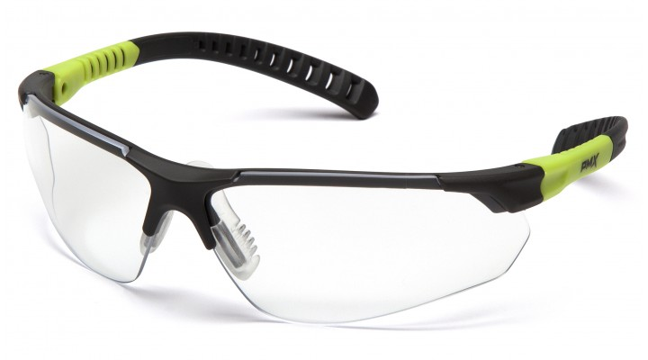 Clear H2MAX Anti-Fog Lens with Gray and Lime Temples