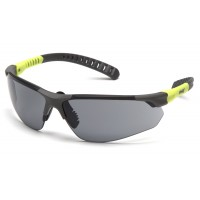 Gray H2MAX Anti-Fog Lens with Gray and Lime Temples
