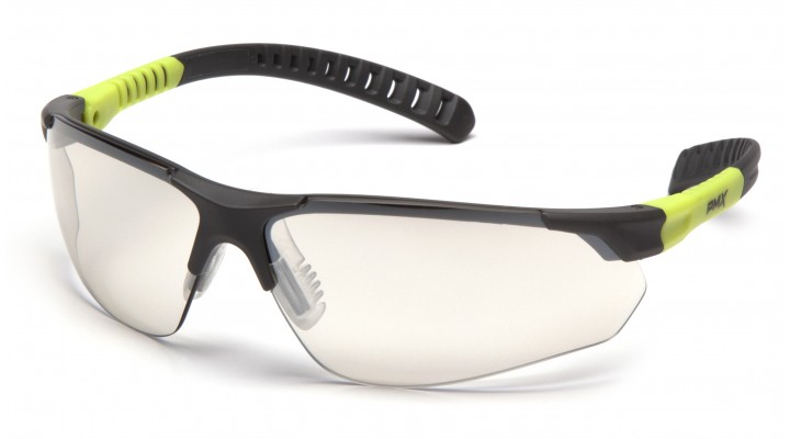 Indoor/Outdoor Lens with Gray and Lime Temples