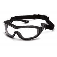 Clear Anti-Fog Lens with Black Temples/Strap