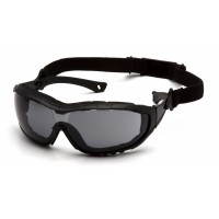 Gray H2X Anti-Fog Lens with Black Temples/Strap