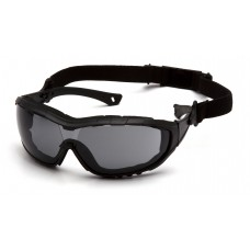 Gray Anti-Fog Lens with Black Temples/Strap