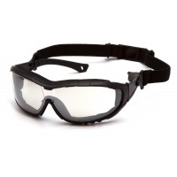 Indoor/Outdoor Mirror Anti-Fog Lens with Black Temples/Strap