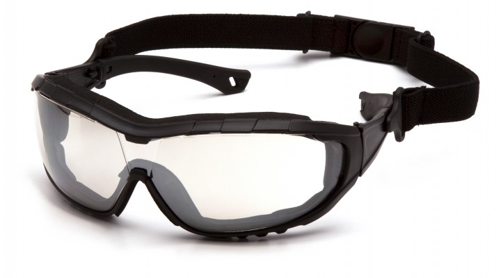 Indoor/Outdoor Mirror H2X Anti-Fog Lens with Black Temples/Strap