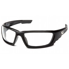 Clear Anti-Fog Lens with Shiny Black Frame
