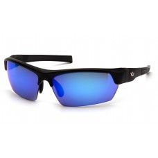 Ice Blue Mirror Anti-Fog Lens with Black/Gray Frame