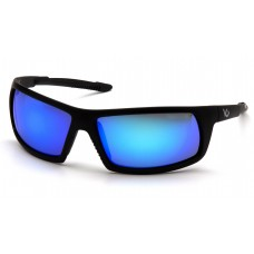 Ice Blue Mirror Anti-Fog Lens with Black Frame