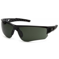 Forest Gray H2X Anti-Fog Lens with Black and Silver Frame