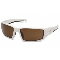 Bronze Anti-Fog Lens with White Frame