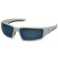 Ice Blue Mirror Anti-Fog Lens with White Frame