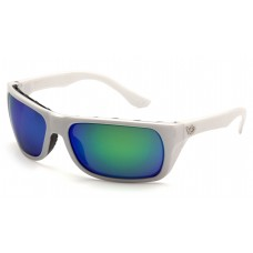 Polarized Green Mirror Lens with White Frame